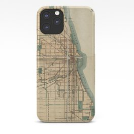 Vintage Map of Chicago Illinois (1889) iPhone Case