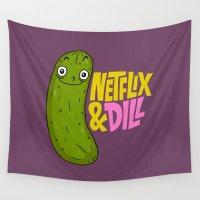netflix Wall Tapestries featuring Netflix & Dill by Chris Piascik