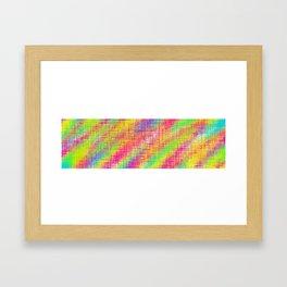 pink green yellow plaid pattern Framed Art Print