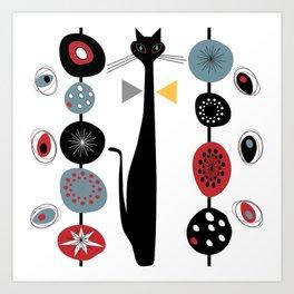 Mid-Century Modern Art Cat 1.7T Art Print