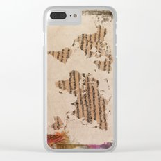 music world map Clear iPhone Case