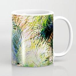 Modern palm leaves tropical abstract design Coffee Mug