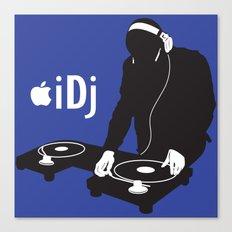 I DJ (Blue) Canvas Print