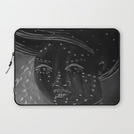 Night by Lu, black-and-white Laptop Sleeve