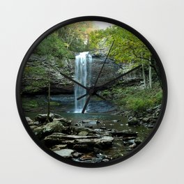 Image USA Cloudland Canyon State Park Crag Nature Waterfalls park Stones Rock Cliff Parks stone Wall Clock