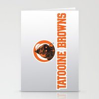 nfl Stationery Cards featuring Tattooine Browns - NFL by Steven Klock