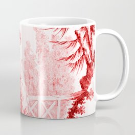 Chinoiserie Toile in Red Coffee Mug