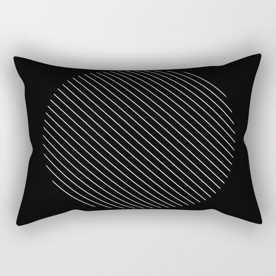 Tilt - Black and White Minimalism Abstract Rectangular Pillow