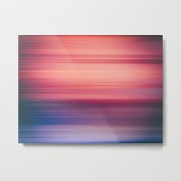 Abstract background blur motion purple violet Metal Print