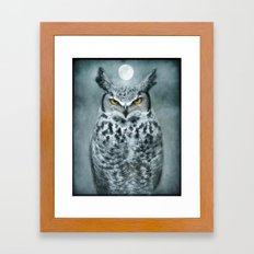 By the light of the Moon... Framed Art Print