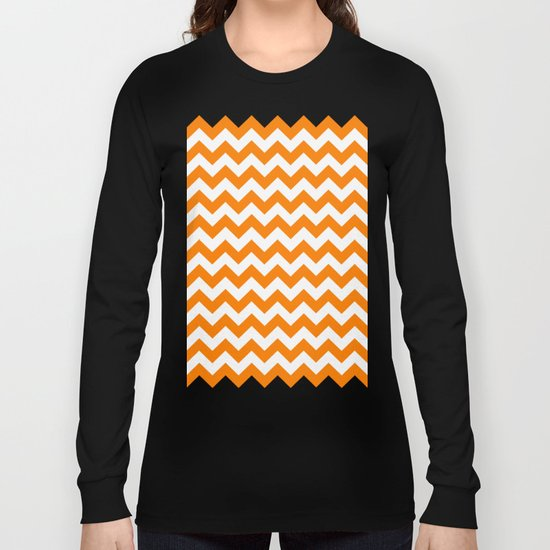 Chevron (Orange/White) Long Sleeve T-shirt