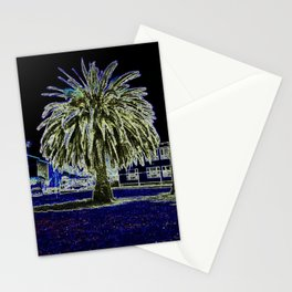 Magic night with Palm tree Stationery Cards