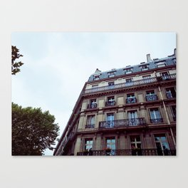 PARISIAN FACADES. Canvas Print