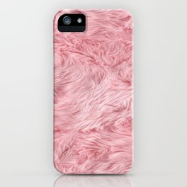 Pink Fur Texture iPhone Case