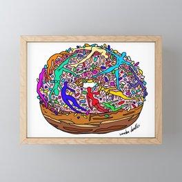 Human Donut Sprinkles Framed Mini Art Print