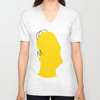 homer V-neck T-shirts featuring Homer by Gphayt
