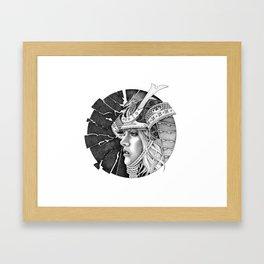 samurai passion Framed Art Print
