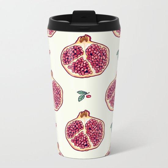 pomegranate garden Metal Travel Mug
