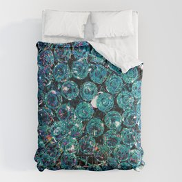 Turquoise Teal Crystals  Comforters