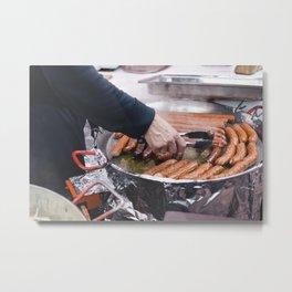Sausage at the market Metal Print