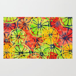 Summer Lemons, Colorful Pattern Rug