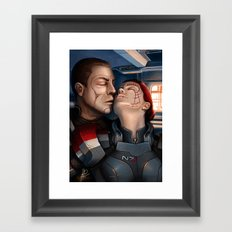 Mass Effect - A moment alone. Framed Art Print