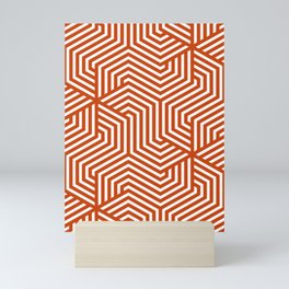 Sinopia - orange - Minimal Vector Seamless Pattern Mini Art Print