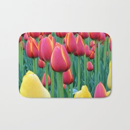 Tulips Red and Yellow Bath Mat