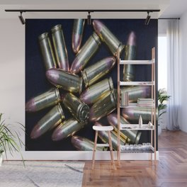 Cluster of 9mm Ammo Wall Mural