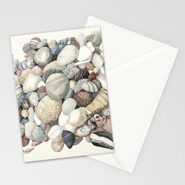 Sea shore of Crete Stationery Cards