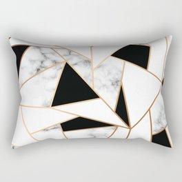 Black & White Marble Rectangular Pillow