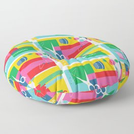 Craft Collage Floor Pillow