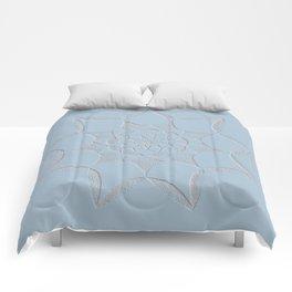 Dot Mandala Light Blue - 3D Pointilism Comforters