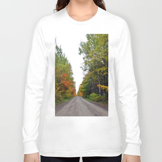 Forest Road in the Fall Long Sleeve T-shirt