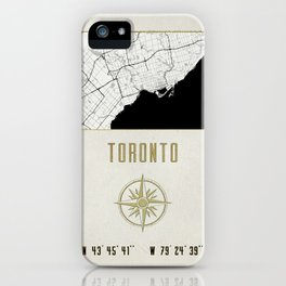 Toronto - Vintage Map and Location iPhone Case