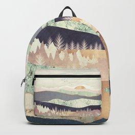 Golden Spring Reflection Backpack