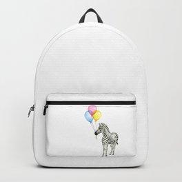 Zebra with Balloons Baby Animal Backpack