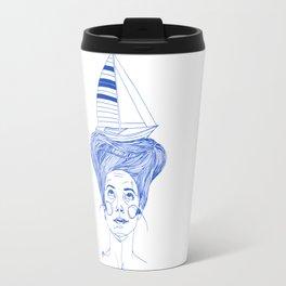 Hairsea blue Travel Mug