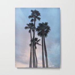 Cotton Candy Palms Metal Print