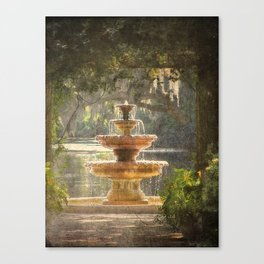 Fountain at the Pergola Canvas Print