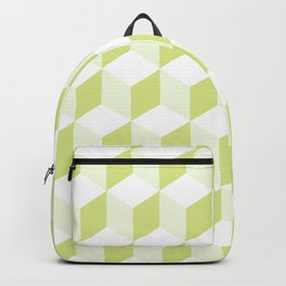 Diamond Repeating Pattern In Almond Buff and Grey Backpack