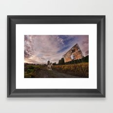 At the drive in. Framed Art Print