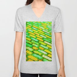 Diagonal Cobble Stones Unisex V-Neck