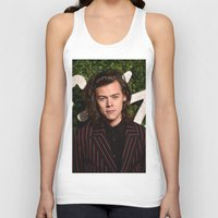 harry styles Tank Tops featuring Harry Styles by behindthenoise