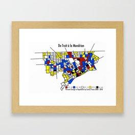 De Troit a la Mondrian Framed Art Print
