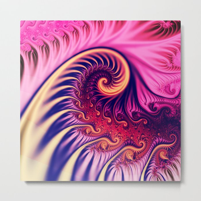 Rolling Ocean Wave Metal Print