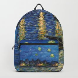 Starry Night Over the Rhône Painting Backpack