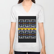 Large Native America inspired blanket print Unisex V-Neck