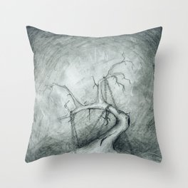 Tree Crippled by Chains Throw Pillow
