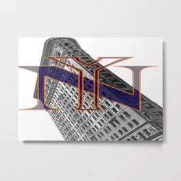 Flatiron and NY Mets Metal Print